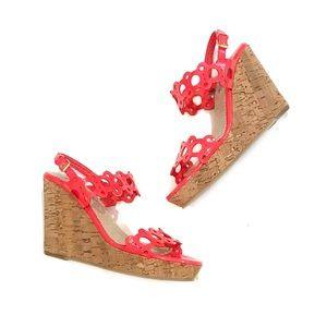 Boden • Bright Orange Kimberly Wedge Sandals